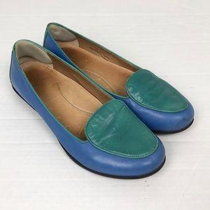 Dansko Nastacia Loafer in blue and teal size 10